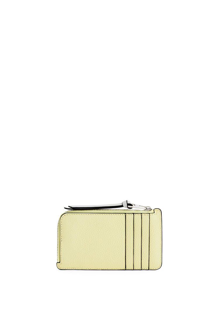 LOEWE Coin cardholder in soft grained calfskin Pale Lime/Ochre Green pdp_rd