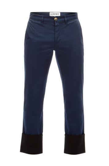 LOEWE Turn Up Chino Trousers Azul/Negro front
