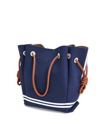 LOEWE Tote复古水手包 Deep Blue/Soft White front