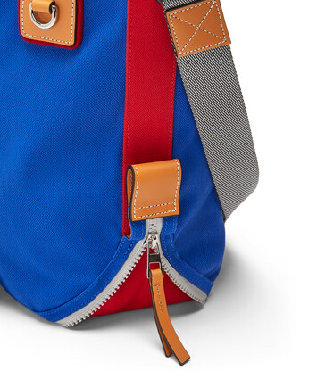 LOEWE Eye/Loewe/Nature Tote Bag Blue/Red front