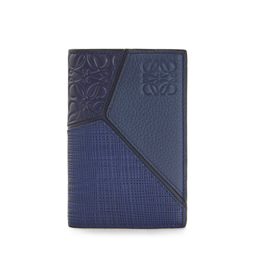 LOEWE Puzzle Bifold Card Navy Blue front