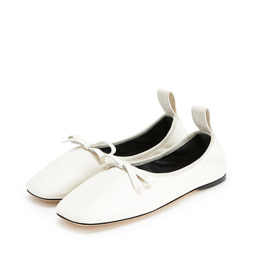 LOEWE Ballerina Bow Soft White front