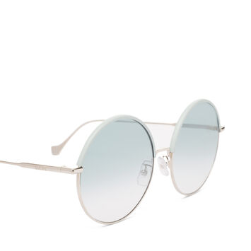 LOEWE Round Sunglasses Sky Blue/Gradient Turquoise front
