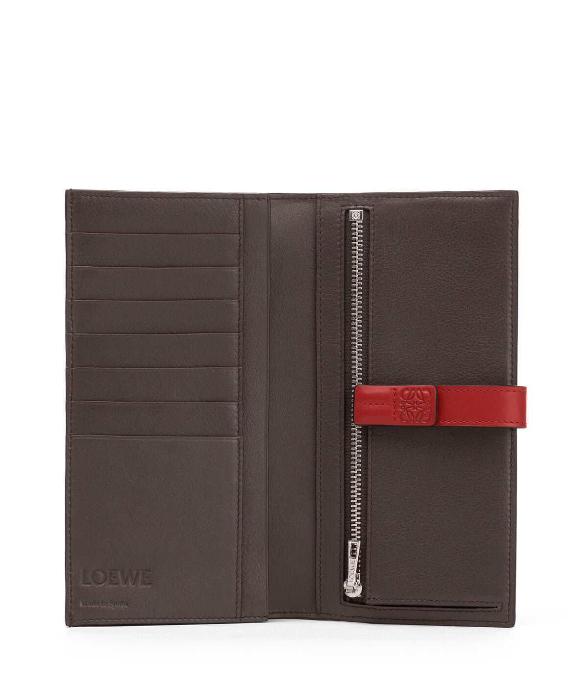 LOEWE Large Vertical Wallet Scarlet Red/Brick Red all