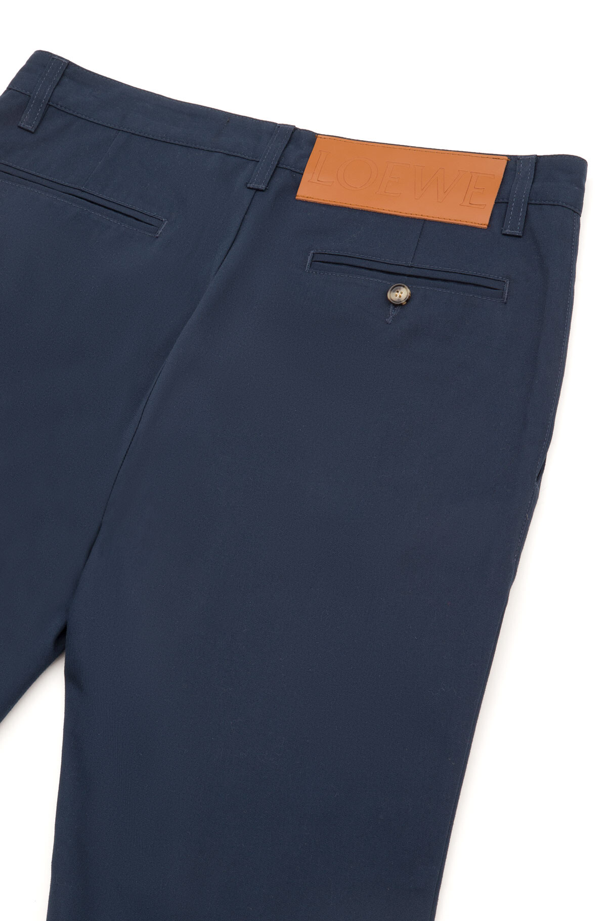 LOEWE Turn Up Chino Trousers Blue/Black front