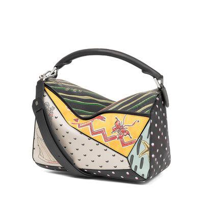 LOEWE Puzzle Paula Patchwork Bag Multicolor front