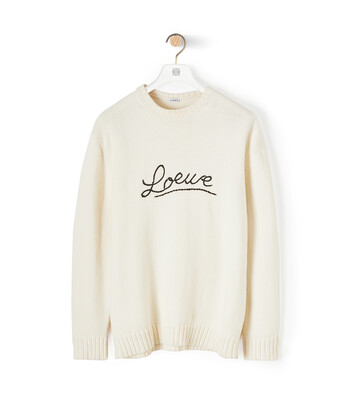 LOEWE Loewe Stitch Sweater Ecru front