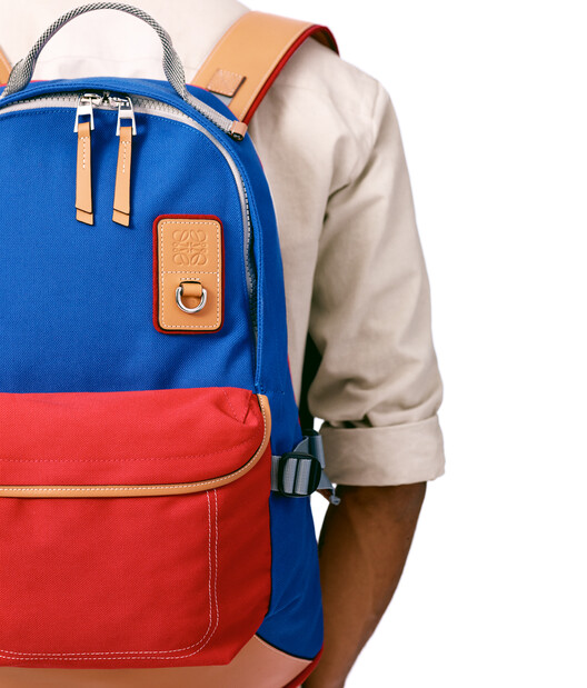 LOEWE Eye/Loewe/Nature Backpack Blue/Red front