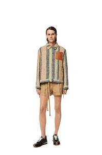 LOEWE Stripe workwear jacket in linen Multicolor pdp_rd
