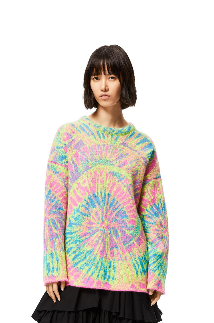 LOEWE ジャカード タイダイ セーター (モヘア) Multicolor/Fucsia pdp_rd