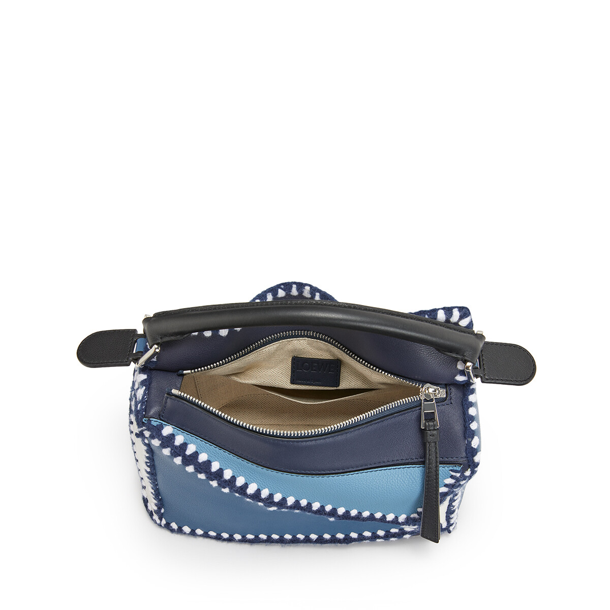 LOEWE Puzzle Crochet Small Bag Midnight Blue/Varsity Blue front