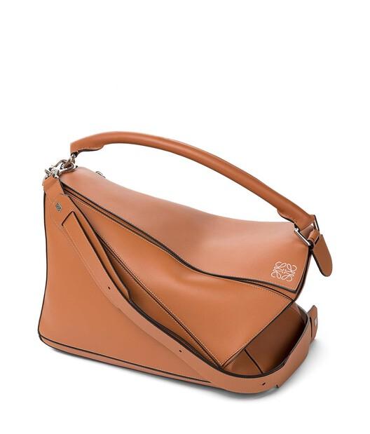 LOEWE Puzzle Large Bag Tan front