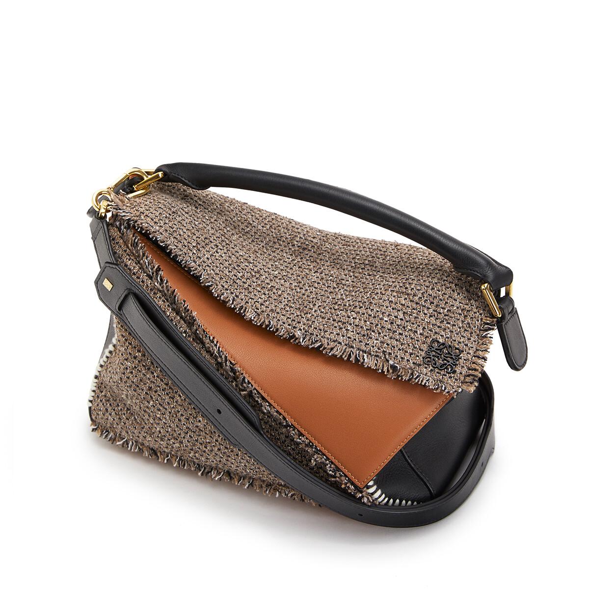 LOEWE Puzzle Tweed Bag Tan front