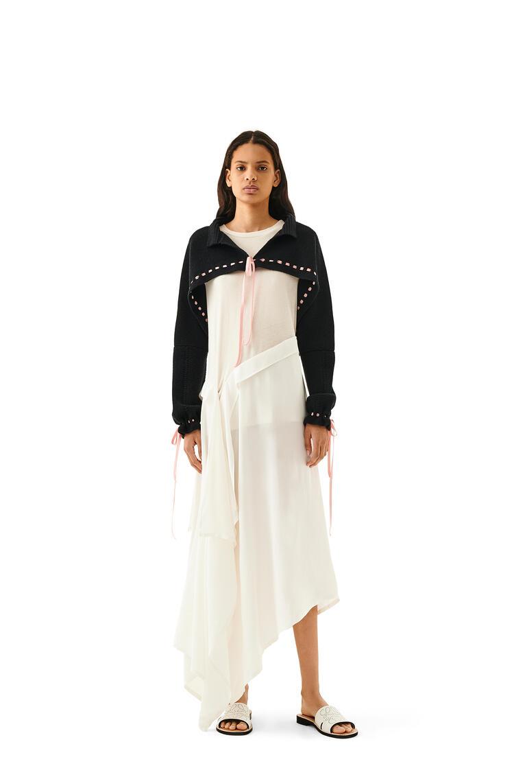 LOEWE Drawstring Polo Collar Bolero In Wool And Cashemere Black pdp_rd