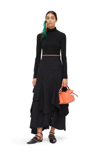 LOEWE Petal Skirt Negro front