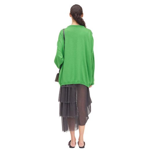 LOEWE Oversize Poloneck Sweater Verde all