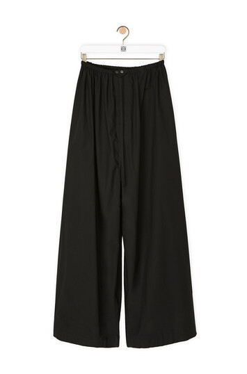 LOEWE Ov Drawstring Trousers 黑色 front