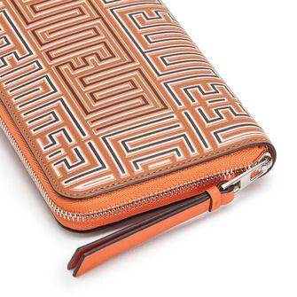 LOEWE Maze Zip Around Wallet Tan/Orange front