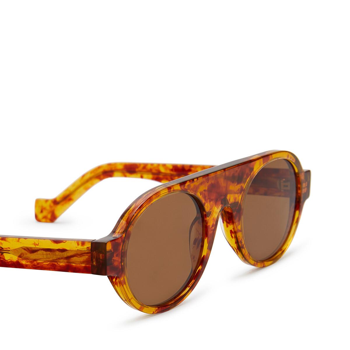 LOEWE Round Aviator Sunglasses Amber front