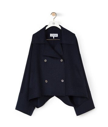 LOEWE Oversize Db Short Jacket Navy Blue front