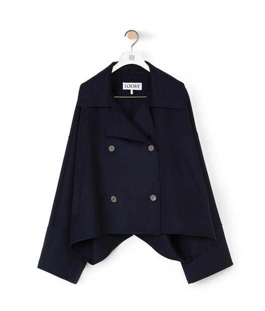 LOEWE Oversize Db Short Jacket Navy Blue front
