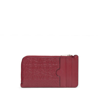 LOEWE Coin/Card Holder Raspberry front