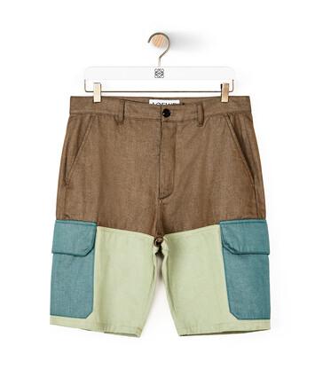 LOEWE Eln Shorts Khaki Green/Green front