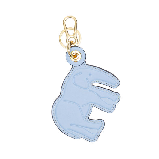 LOEWE Elephant Leather Charm Light Blue/Stone Blue all