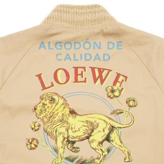 LOEWE Bomber Jacket El Leon Beige front