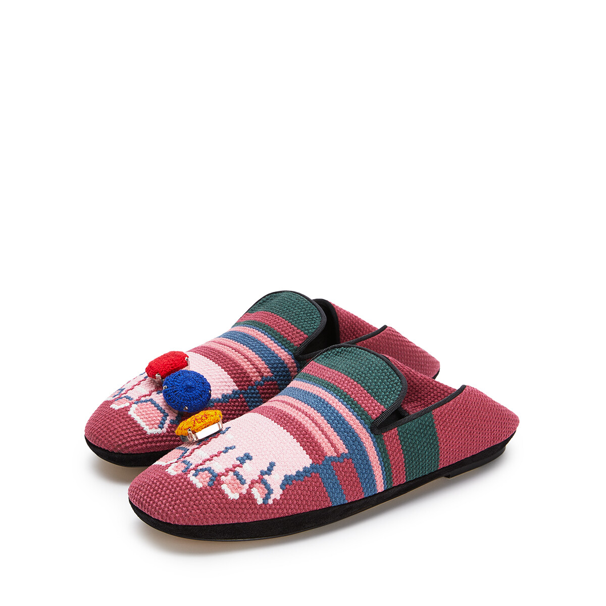 LOEWE Foot Slipper Fuchsia/Pink front
