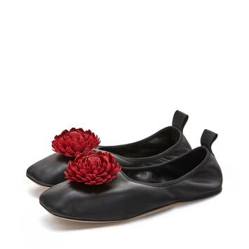 LOEWE Ballerina Flower Black/Red front
