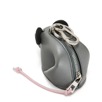 LOEWE Charm Raton Gris Metalico/Candy front