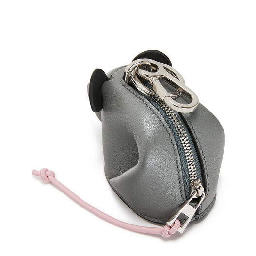 LOEWE Mouse Charm Gunmetal/Candy front