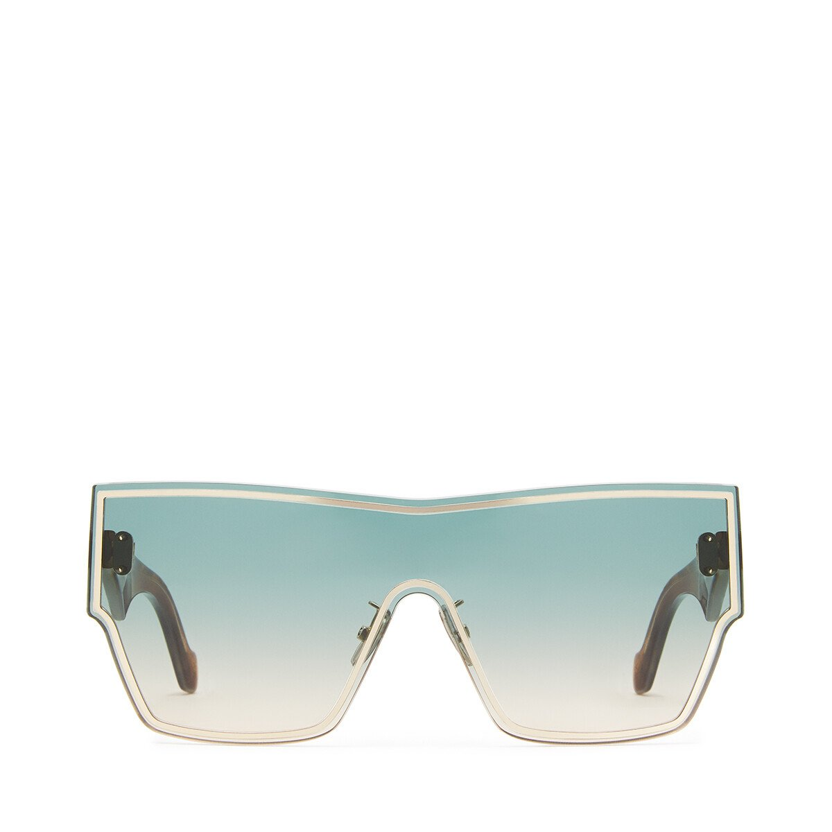 LOEWE Large Mask Sunglasses Aquamarine/Toffee front