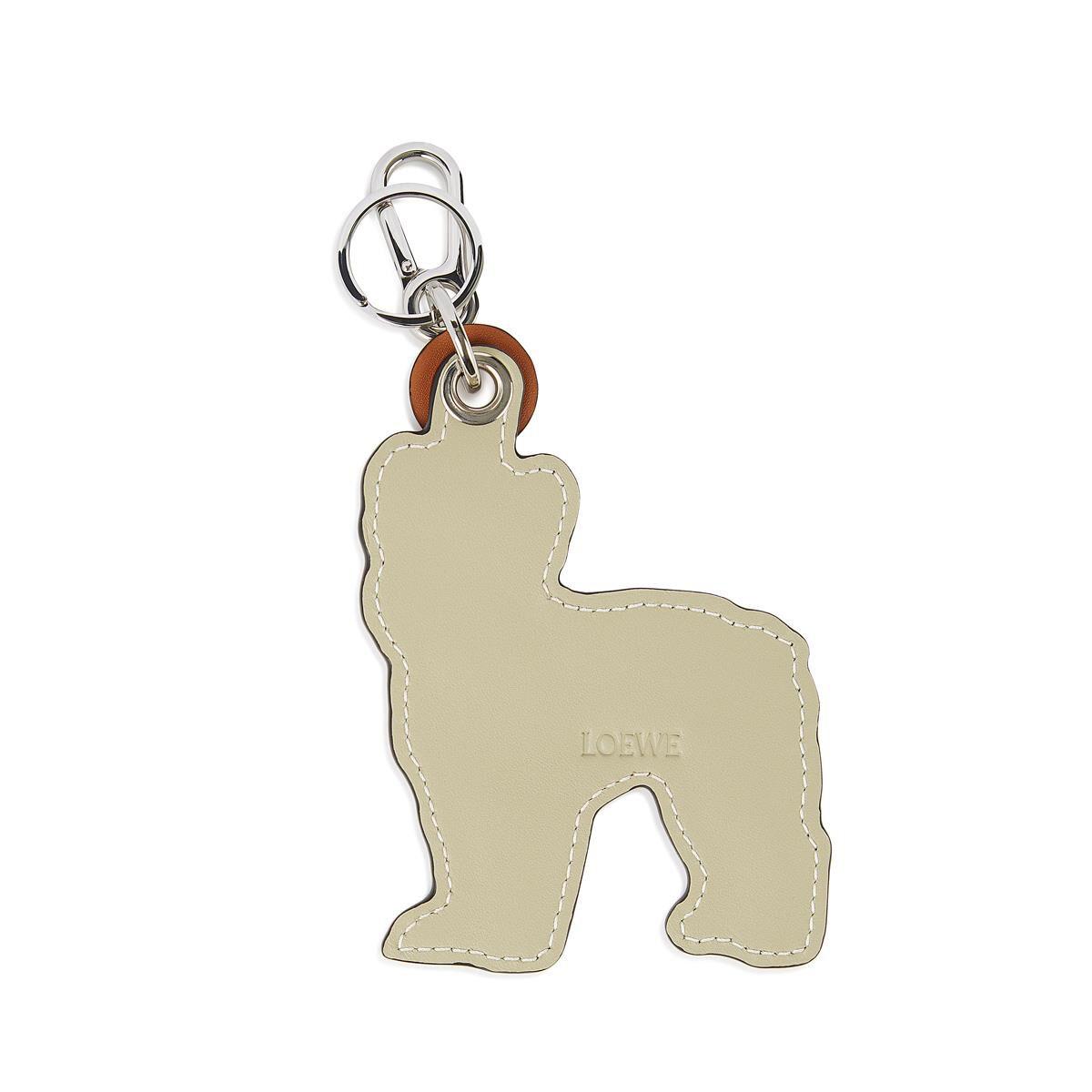 LOEWE Charm Perro Bulldog Bronceado/Marfil all