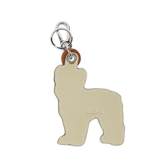 LOEWE Bulldog Dog Charm Tan/Marfil all