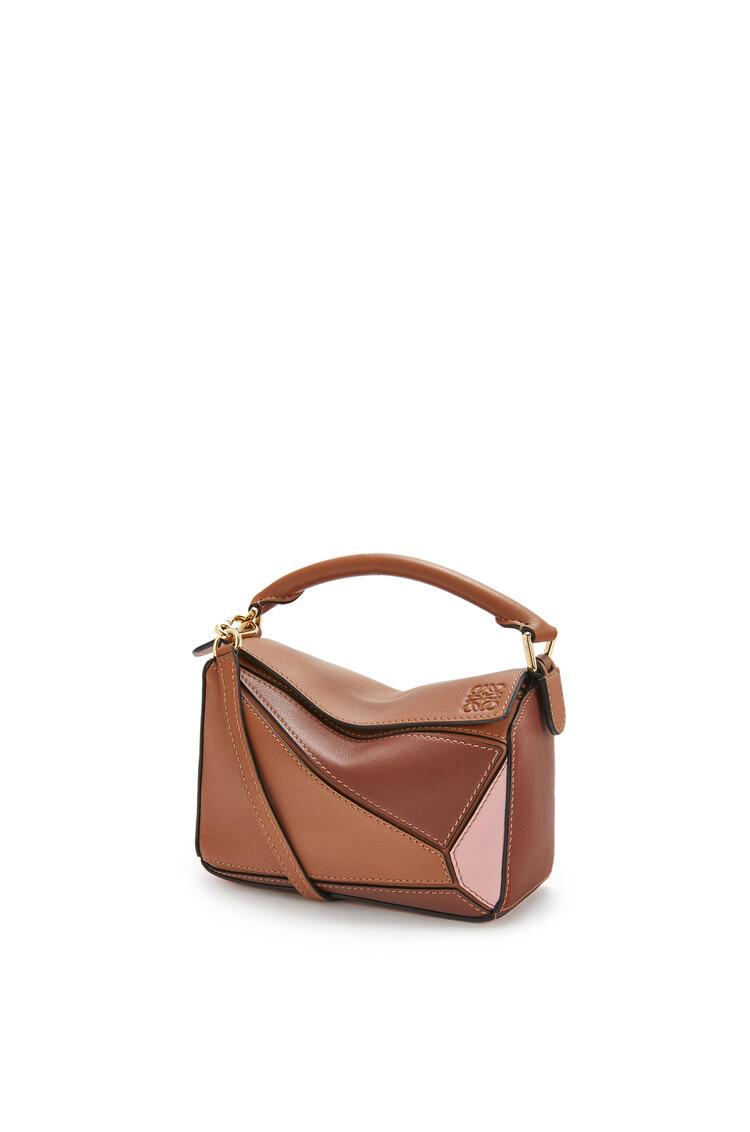 LOEWE Mini Puzzle Bag In Classic Calfskin Tan/Medium Pink pdp_rd
