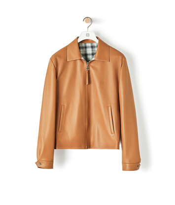LOEWE Reversible Zip Blouson Tan front