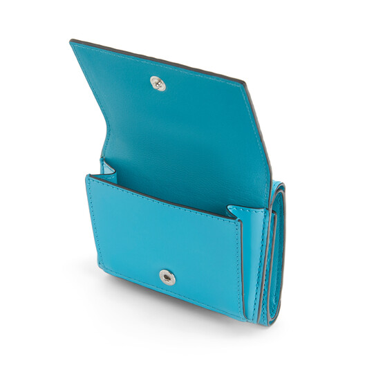 LOEWE Trifold Wallet Peacock Blue front