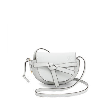 LOEWE Mini Gate bag in soft grained calfskin Kaolin pdp_rd