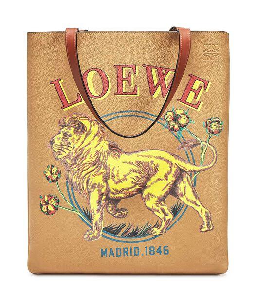 LOEWE Vertical Tote Lion Bag Desert all
