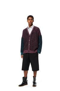 LOEWE Rebeca oversize de punto de ochos en lana Negro/Rosa pdp_rd