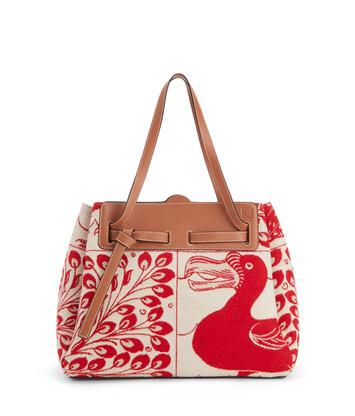 LOEWE Lazo Shopper Tiles 红色 front
