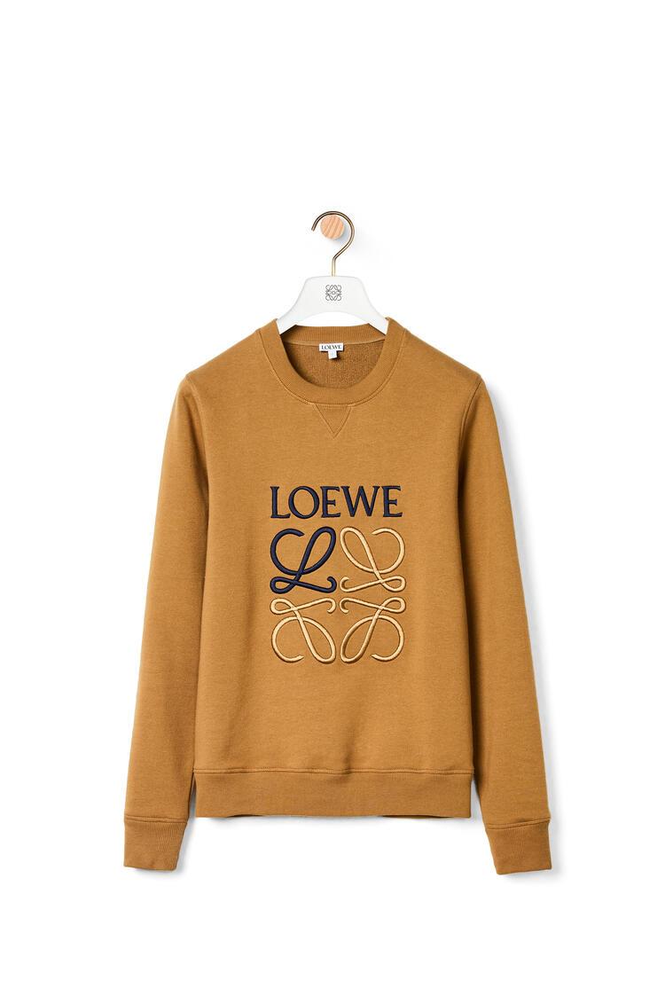 LOEWE Sudadera de algodón con el anagrama bordado Camel pdp_rd