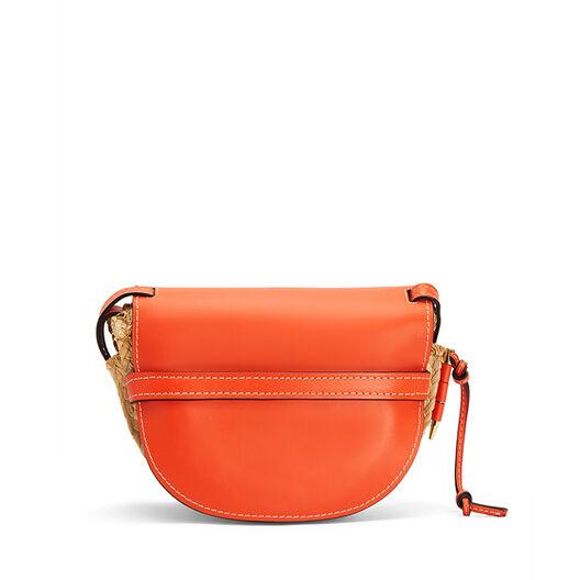 LOEWE Gate Small Bag Orange/Natural front
