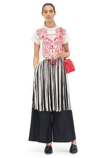 LOEWE Fringe T-Shirt Totem Off-White/Red front
