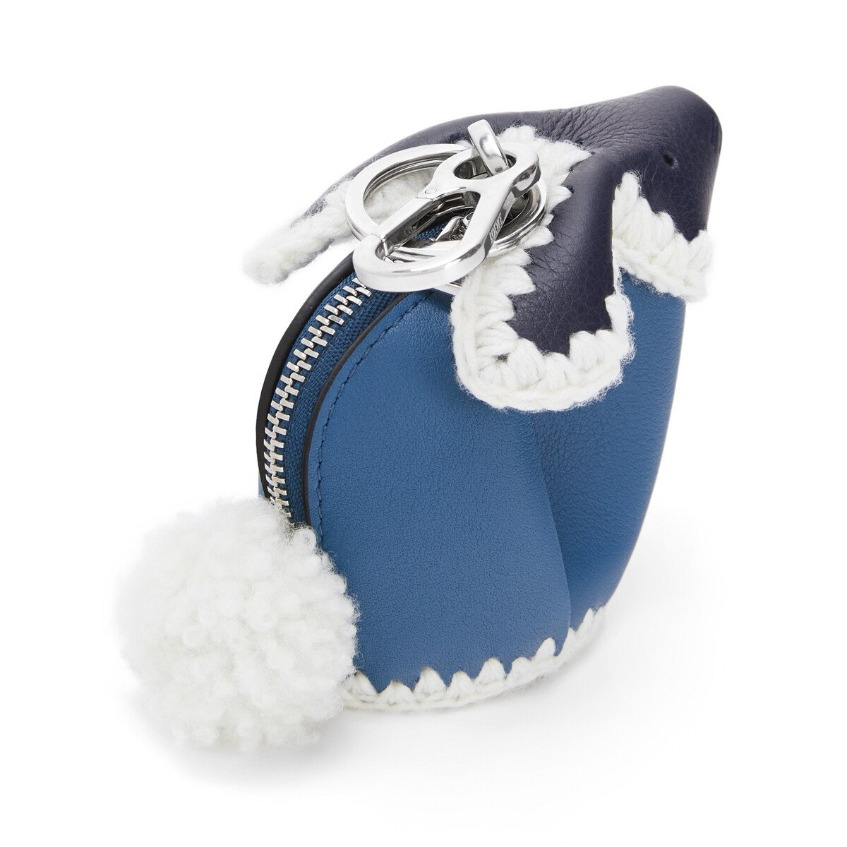 LOEWE Bunny Crochet Charm Midnight Blue/Varsity Blue front