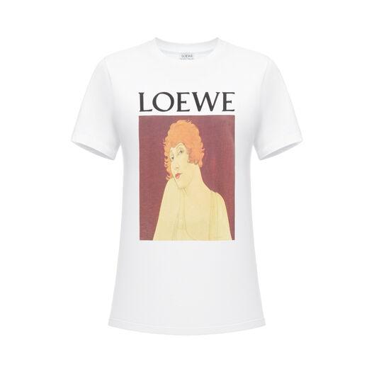 LOEWE T-Shirt Loewe Portrait White front
