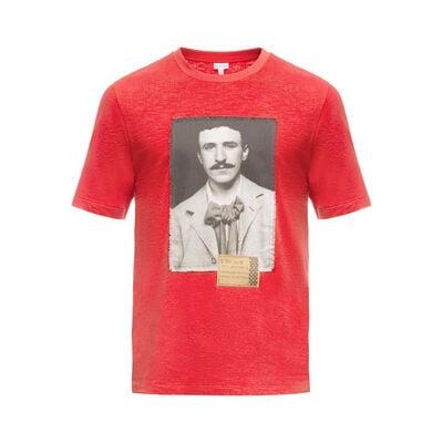 LOEWE Tシャツポートレート レッド front