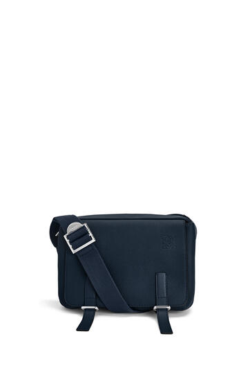LOEWE XS Military messenger bag in soft grained calfskin Midnight Blue pdp_rd